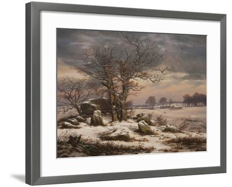 Winter Landscape. Near Vordingborg, 1827-Johan Christian Dahl-Framed Art Print