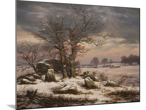 Winter Landscape. Near Vordingborg, 1827-Johan Christian Dahl-Mounted Giclee Print