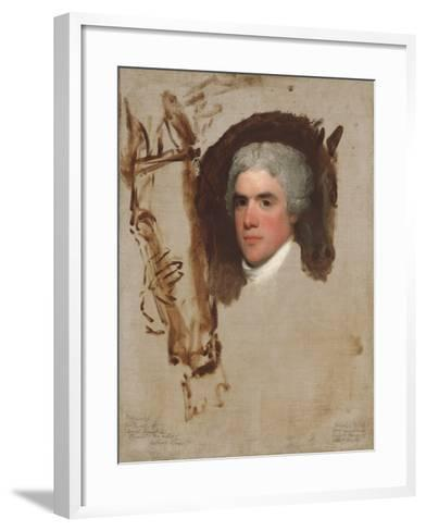 John Bill Ricketts, 1795-9-Gilbert Stuart-Framed Art Print