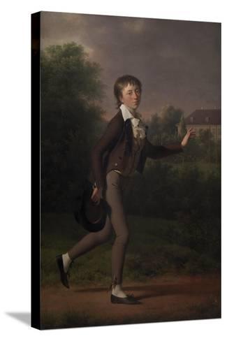 Running boy. Marcus Holst von Schmidten, 1802-Jens Juel-Stretched Canvas Print