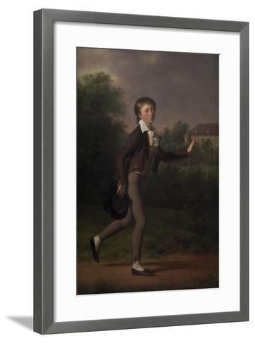 Running boy. Marcus Holst von Schmidten, 1802-Jens Juel-Framed Art Print