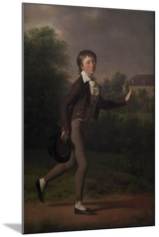 Running boy. Marcus Holst von Schmidten, 1802-Jens Juel-Mounted Giclee Print