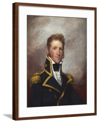 Commodore Thomas Macdonough, c.1815-8-Gilbert Stuart-Framed Art Print