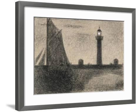 The Lighthouse at Honfleur, 1886-Georges Pierre Seurat-Framed Art Print