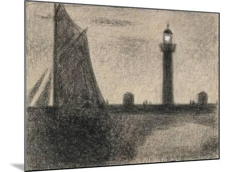 The Lighthouse at Honfleur, 1886-Georges Pierre Seurat-Mounted Giclee Print