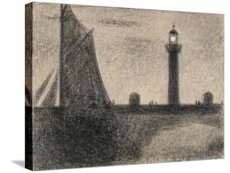The Lighthouse at Honfleur, 1886-Georges Pierre Seurat-Stretched Canvas Print