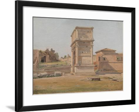 The Arch of Titus in Rome, 1839-Carl-Christian-Constantin Hansen-Framed Art Print
