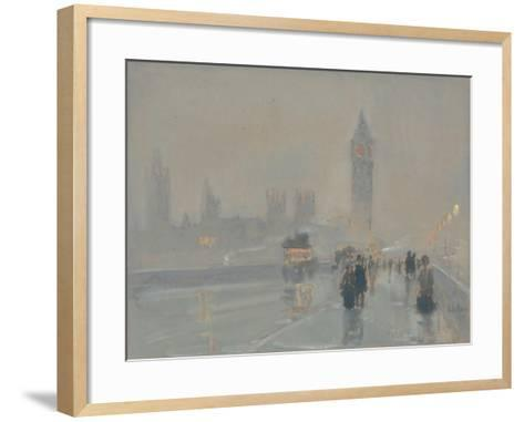 Big Ben, 1897 or 1907-Childe Hassam-Framed Art Print