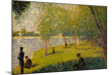 "Study for ""A Sunday on La Grande Jatte"", 1884-Georges Pierre Seurat-Mounted Giclee Print"