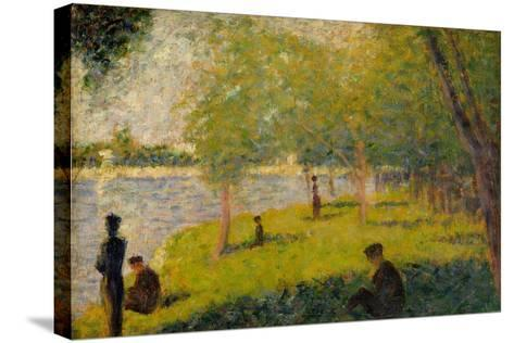 "Study for ""A Sunday on La Grande Jatte"", 1884-Georges Pierre Seurat-Stretched Canvas Print"