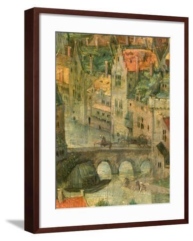 Town detail from Tower of Babel, 1563-Pieter the Elder Bruegel-Framed Art Print