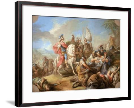The Victory of Alexander over Porus, c.1738-Carle van Loo-Framed Art Print