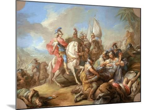 The Victory of Alexander over Porus, c.1738-Carle van Loo-Mounted Giclee Print