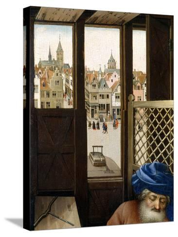 Annunciation Triptych (Merode Altarpiece), c.1427-32-Master of Flemalle-Stretched Canvas Print