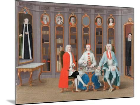 The Stenbock family in Their Library at Rånäs, c.1740-Carl Fredrik Svan-Mounted Giclee Print