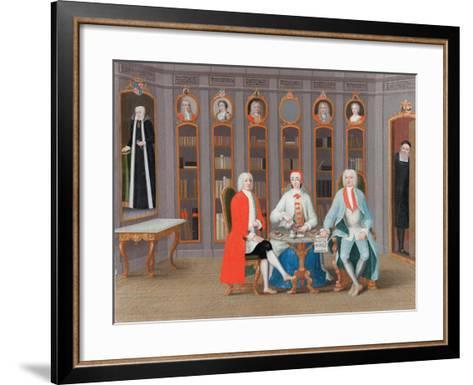 The Stenbock family in Their Library at Rånäs, c.1740-Carl Fredrik Svan-Framed Art Print