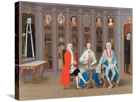 The Stenbock family in Their Library at Rånäs, c.1740-Carl Fredrik Svan-Stretched Canvas Print