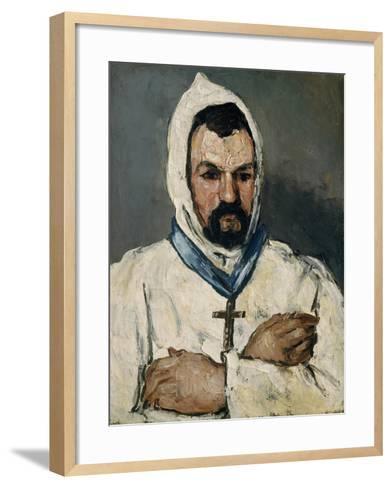 Antoine Dominique Sauveur Aubert, the Artist's Uncle, as a Monk, 1866-Paul Cezanne-Framed Art Print