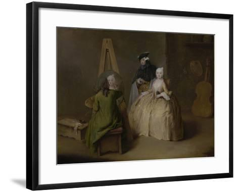 The Painter in His Studio, c.1741-4-Pietro Longhi-Framed Art Print
