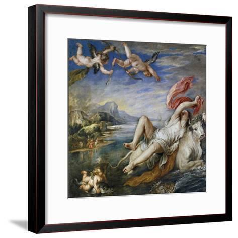 Rape of Europe, 1628-9-Peter Paul Rubens-Framed Art Print