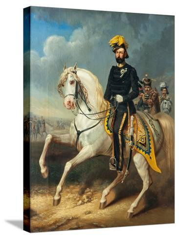 Karl XV, King of Sweden and Norway, c.1860-Carl Fredrik Kioerboe-Stretched Canvas Print