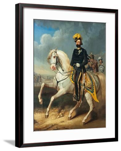 Karl XV, King of Sweden and Norway, c.1860-Carl Fredrik Kioerboe-Framed Art Print