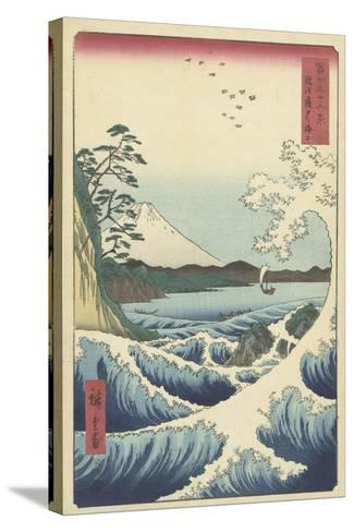 Seascape in Suruga, 1858-Ando or Utagawa Hiroshige-Stretched Canvas Print