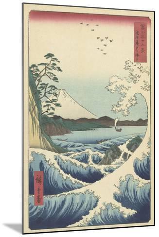 Seascape in Suruga, 1858-Ando or Utagawa Hiroshige-Mounted Giclee Print