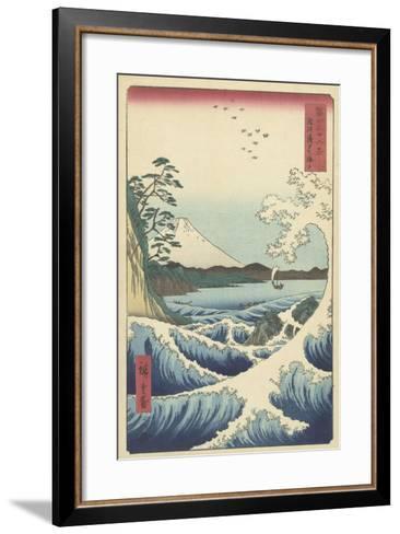 Seascape in Suruga, 1858-Ando or Utagawa Hiroshige-Framed Art Print