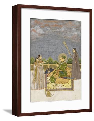 Emperor Muhammad Shah, c.1735-Mughal School-Framed Art Print