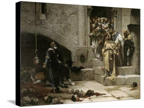 The Bell of Huesca, 1880-Jose Casado Del Alisal-Stretched Canvas Print