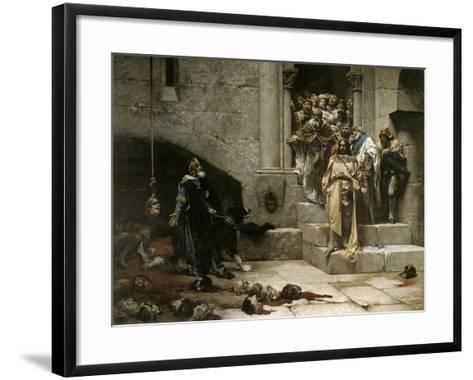 The Bell of Huesca, 1880-Jose Casado Del Alisal-Framed Art Print