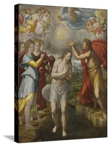 The Baptism of Christ, c.1567-Juan Fernandez De Navarrete-Stretched Canvas Print