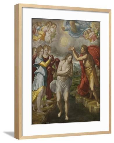 The Baptism of Christ, c.1567-Juan Fernandez De Navarrete-Framed Art Print
