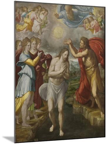 The Baptism of Christ, c.1567-Juan Fernandez De Navarrete-Mounted Giclee Print