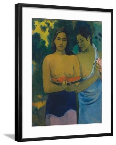 Two Tahitian Women, 1899-Paul Gauguin-Framed Art Print