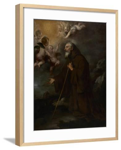 The Vision of Saint Francis of Paola, c.1670-Bartolome Esteban Murillo-Framed Art Print