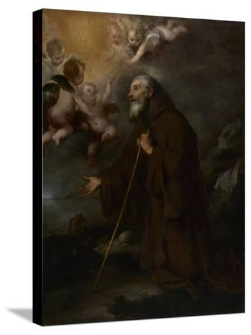 The Vision of Saint Francis of Paola, c.1670-Bartolome Esteban Murillo-Stretched Canvas Print