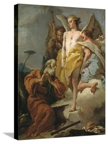 Abraham and the Three Angels, c.1770-Giovanni Battista Tiepolo-Stretched Canvas Print