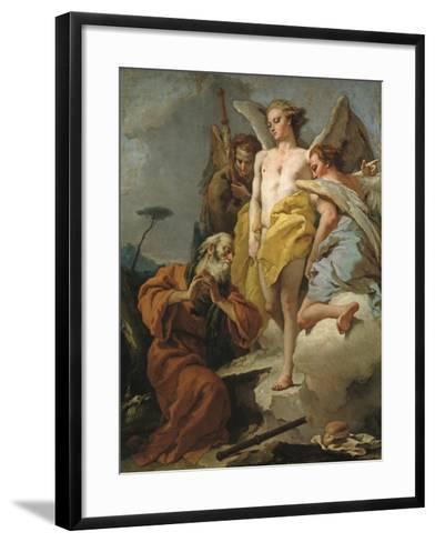 Abraham and the Three Angels, c.1770-Giovanni Battista Tiepolo-Framed Art Print