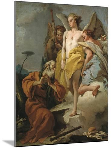 Abraham and the Three Angels, c.1770-Giovanni Battista Tiepolo-Mounted Giclee Print
