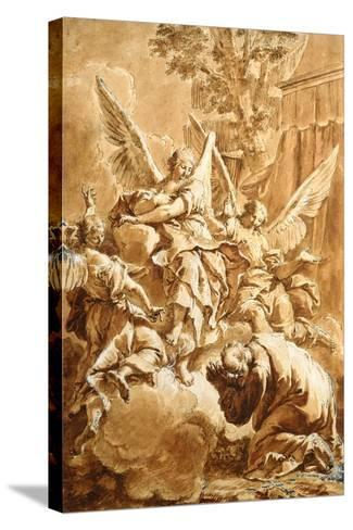 Abraham and the Three Angels, c.1750-Francesco Fontebasso-Stretched Canvas Print