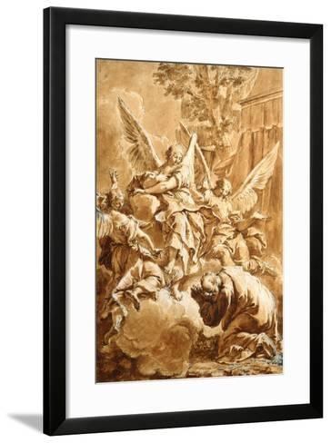 Abraham and the Three Angels, c.1750-Francesco Fontebasso-Framed Art Print