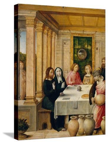 The Marriage Feast at Cana, c.1500-4- Juan de Flandes-Stretched Canvas Print