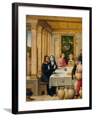 The Marriage Feast at Cana, c.1500-4- Juan de Flandes-Framed Art Print