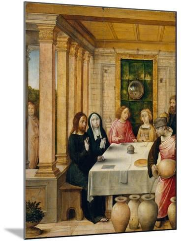 The Marriage Feast at Cana, c.1500-4- Juan de Flandes-Mounted Giclee Print
