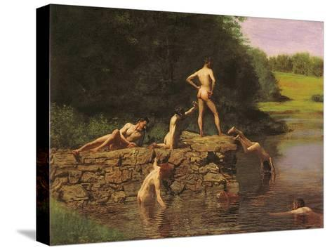 Swimming Hole, 1885-Thomas Cowperthwait Eakins-Stretched Canvas Print