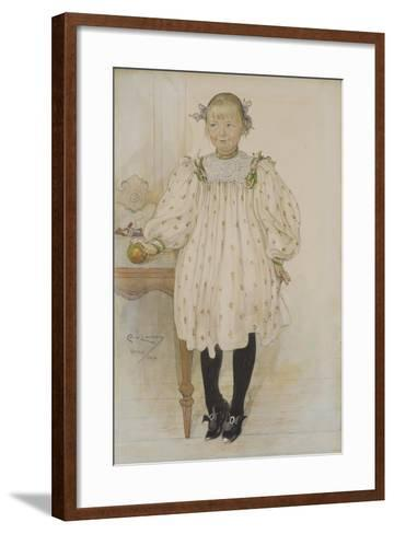 Martha Winslow as a Girl, 1896-Carl Larsson-Framed Art Print
