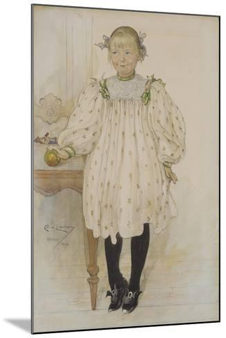 Martha Winslow as a Girl, 1896-Carl Larsson-Mounted Giclee Print