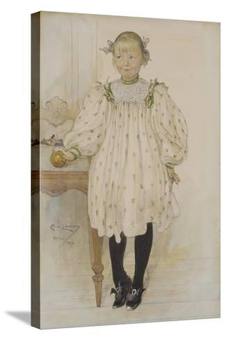 Martha Winslow as a Girl, 1896-Carl Larsson-Stretched Canvas Print